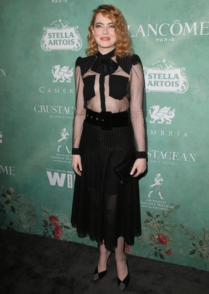 Emma Stone wearing aGivenchy Pre-Fall 2018 outfit