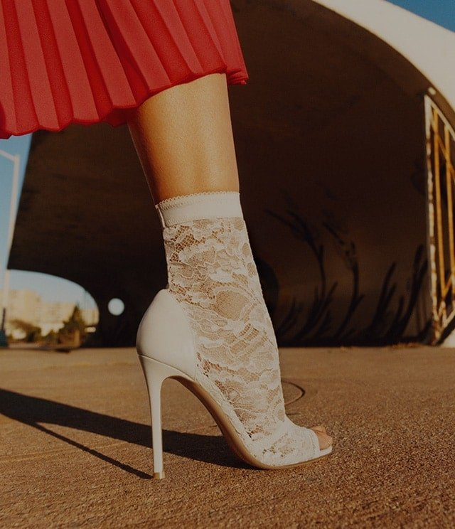 Inspired by lingerie, these 'Giada' ankle boots are featured in Gianvito Rossi's 'Lace Heaven' video for his latest collection