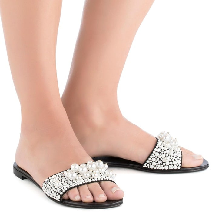 These slides will make anything you're wearing them with feel a little more glamorous