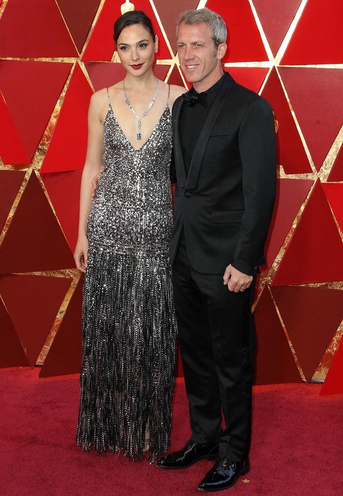 Gal Gadot and Yaron Varsanoat the 2018 Oscars