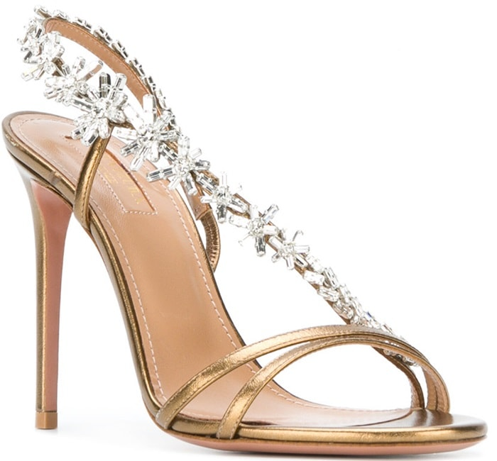 Gold-Tone 'Chateau' Crystal-Embellished Sandals