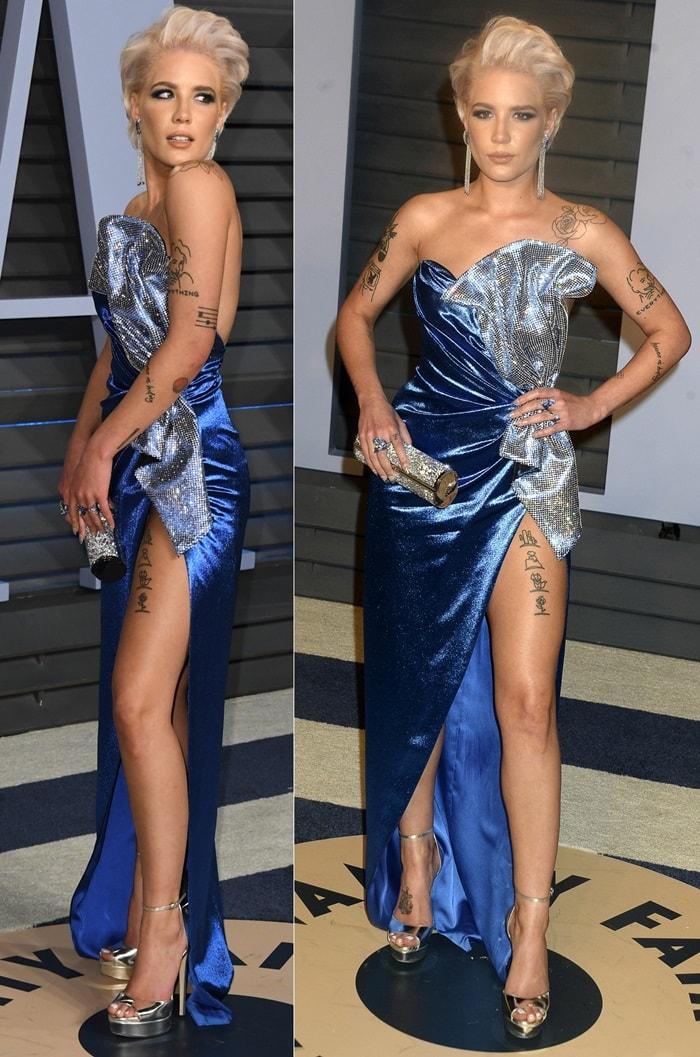 Halsey at the 2018 Vanity Fair Oscar Party