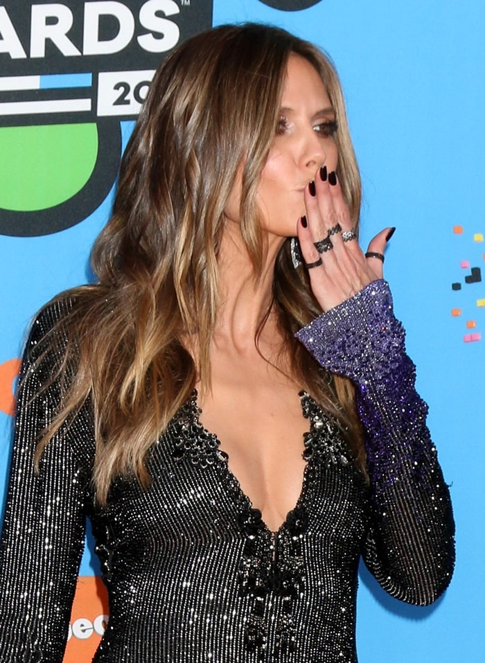 Heidi Klum at the 2018 Nickelodeon Kids' Choice Awards