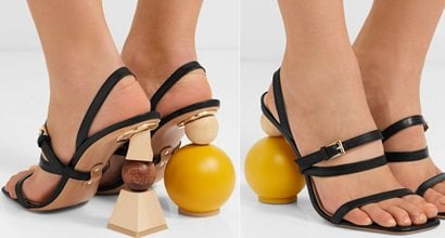 """bbac6cbef53 Mismatached Stacked Wooden Shape  Bahia  Sandals by Jacquemus. """""""