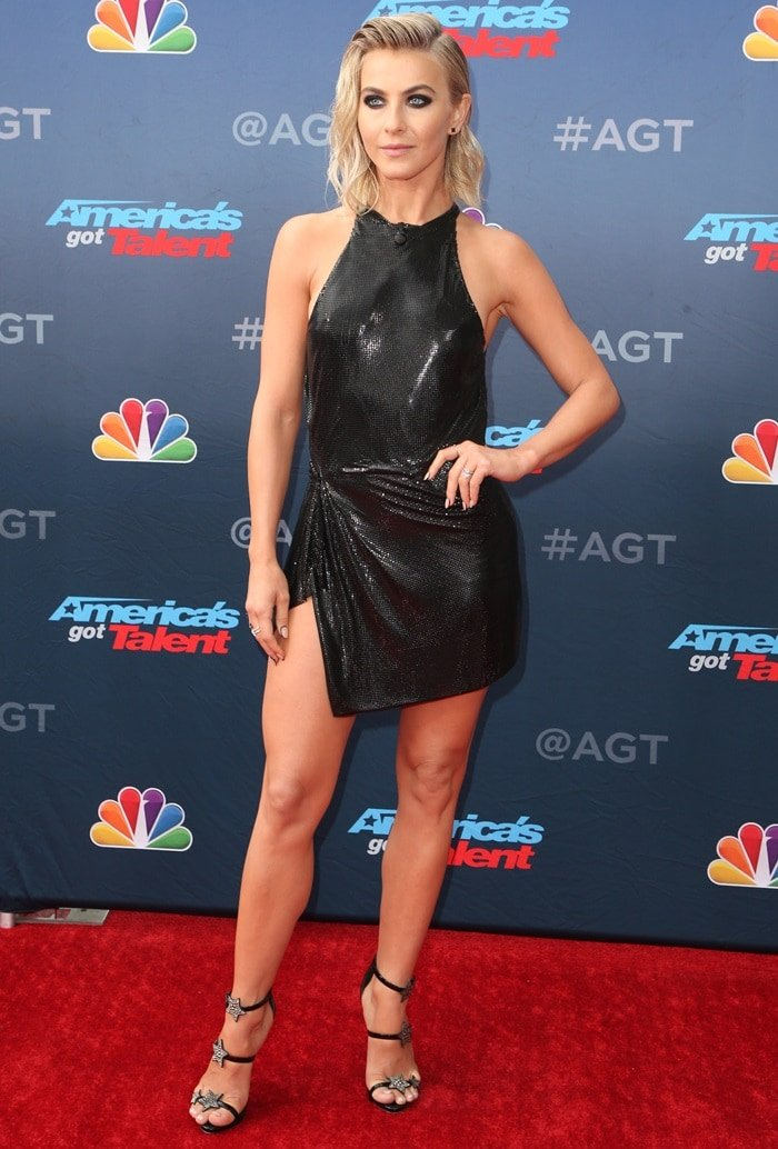 Julianne Hough paraded her sexy legs at the kick-off of America's Got Talent in Pasadena, California, on March 11, 2019