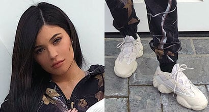 a36c9b34a Kylie Jenner in Yeezy 500 Sneakers for First Photo with Daughter Stormi