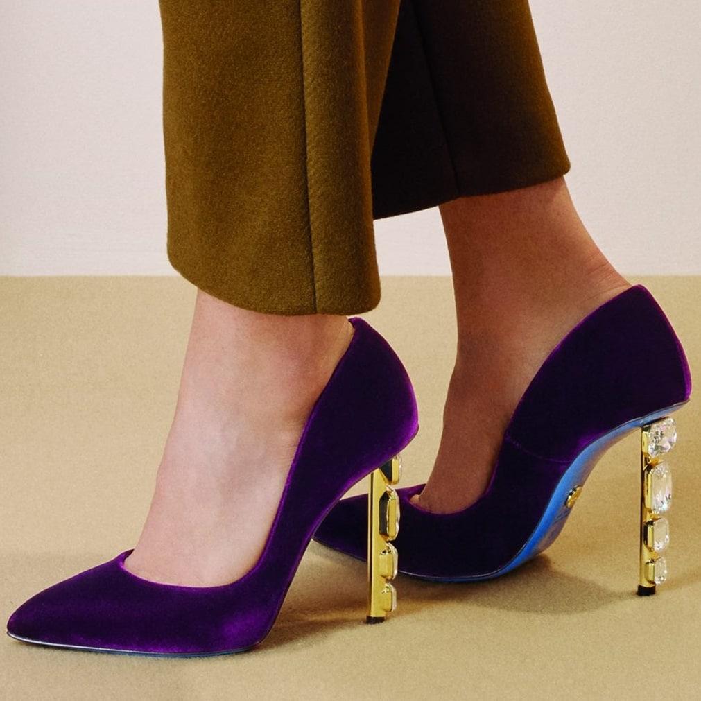 Loriblu purple pumps for women