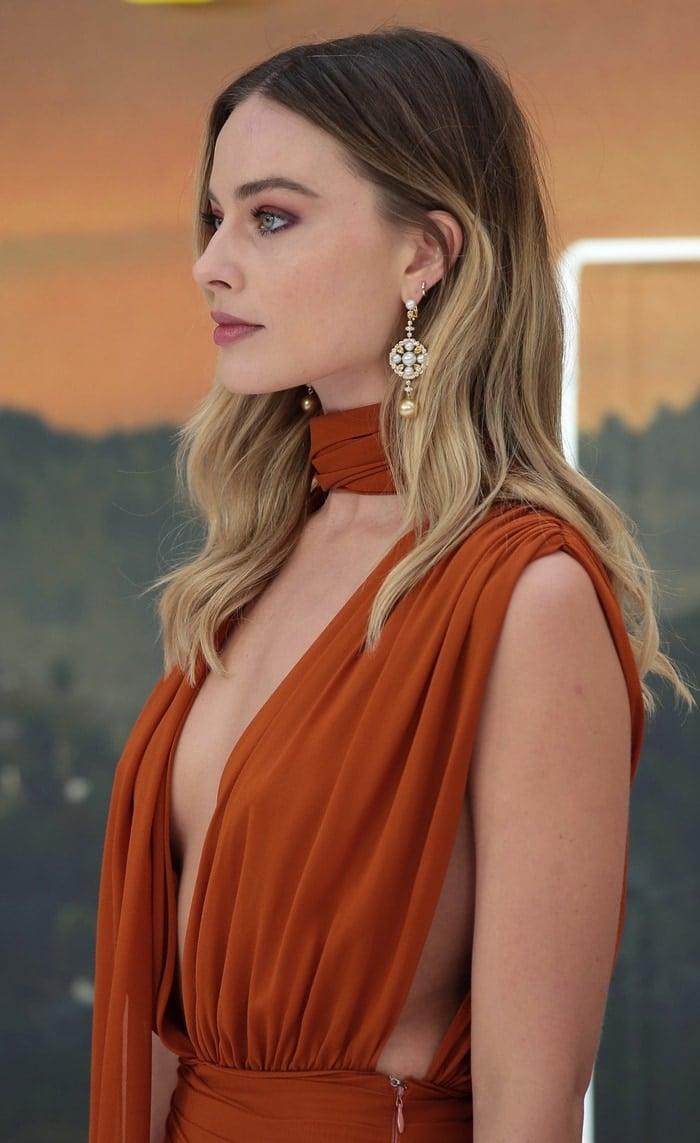 Margot Robbie's Chanel San Marco earrings