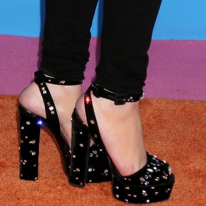 Mariah Carey's feet in towering platform sandals