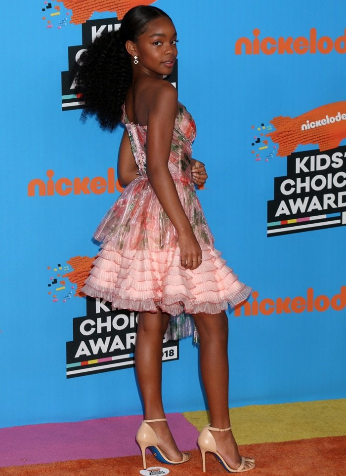 Marsai Martin at the 2018 Nickelodeon Kids' Choice Awards held at The Forum in Inglewood, California, on March 24, 2018