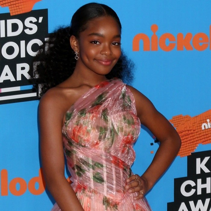 Marsai Martin's lovely Be My Lilou earrings