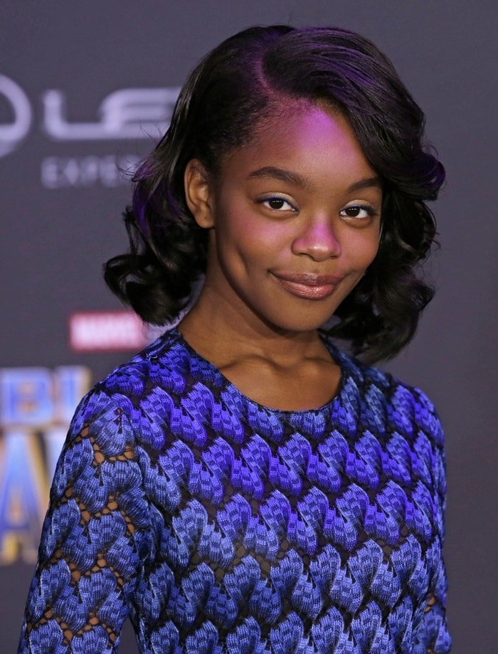Marsai Martin at the premiere of Marvel's 'Black Panther' held at Dolby Theatre in Hollywood on January 29, 2018