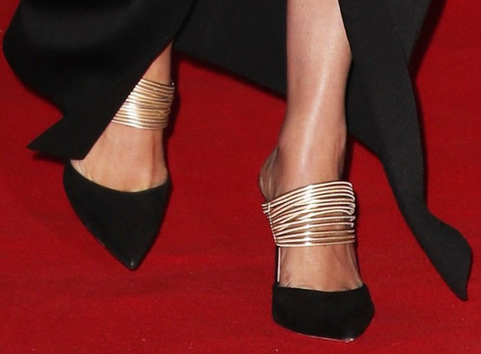 Meghan Markle's feet in Rendez Vous pumps by Aquazzura