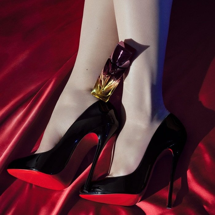 Black pump with the 'Trouble in Heaven' perfume