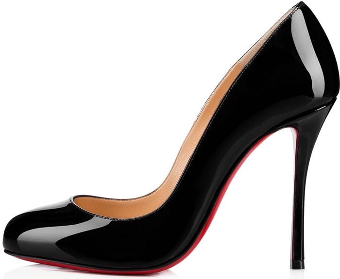 "Black Patent Leather""Merci Allen""100mm Fetish Heels"