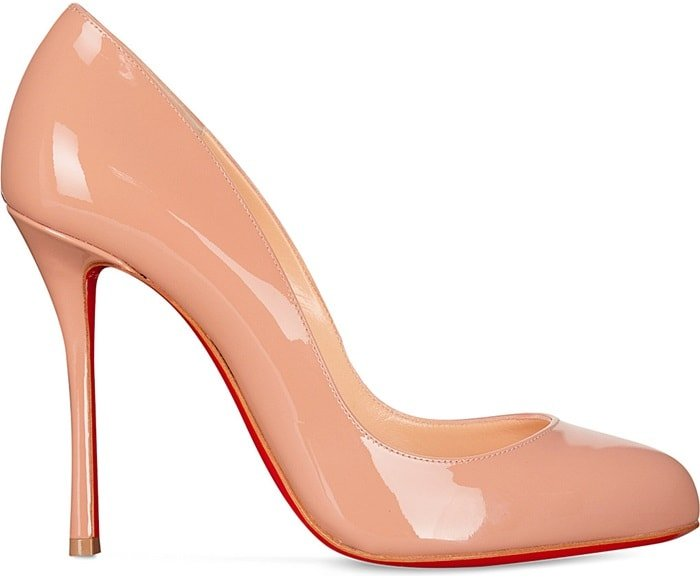 Resting on a slim 100mm stiletto, the curved silhouette of this nude pump gives your legs an elegant dancer's curve
