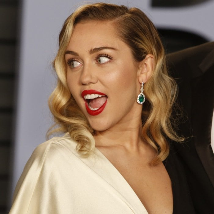 Miley Cyrus's statement earrings
