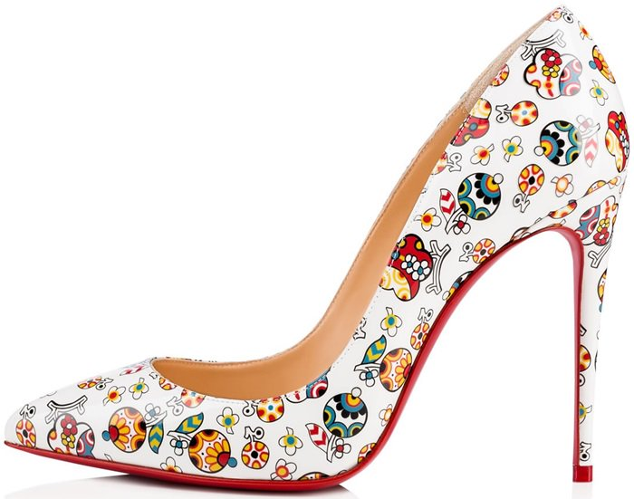 "Fiori Print ""Pigalle Follies"" Patent Leather Pumps"