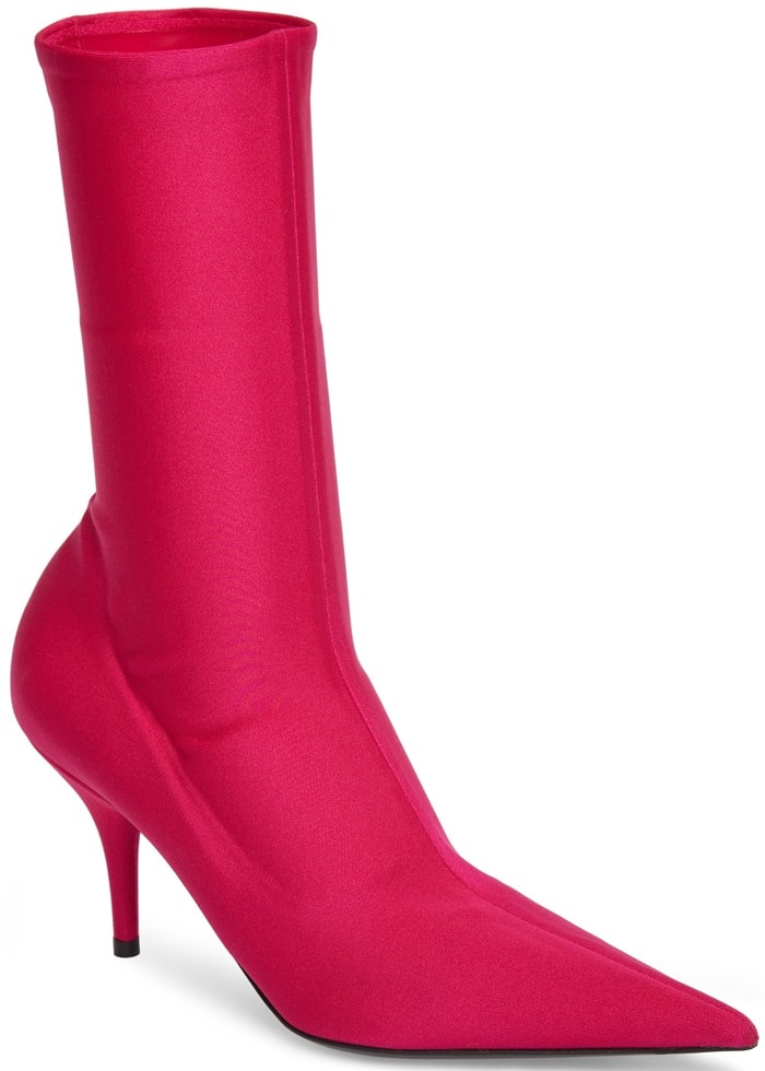 Pink Pointy-Toe Balenciaga Mid Booties