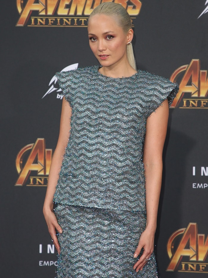 "Pom Klementieff at the ""Avengers: Infinity War"" premiere"