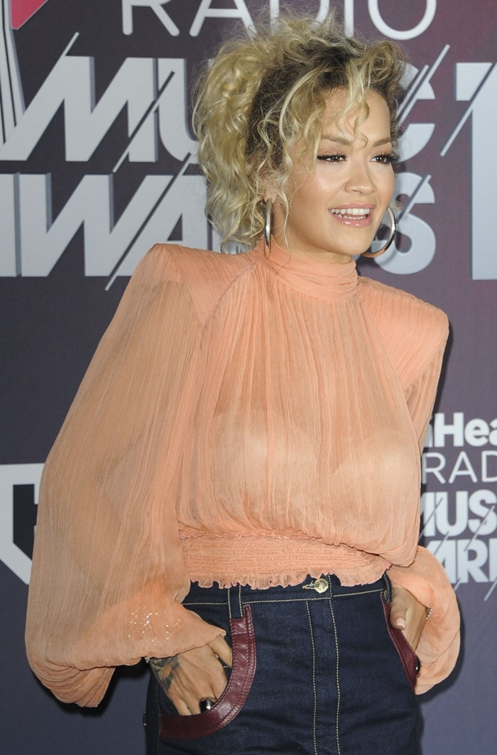 Rita Ora in an outfit from Nina Ricci's Pre-Fall 2018 collection