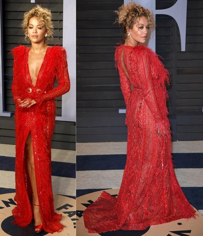 Rita Ora inOlgana Paris 'La Coquette' sandals