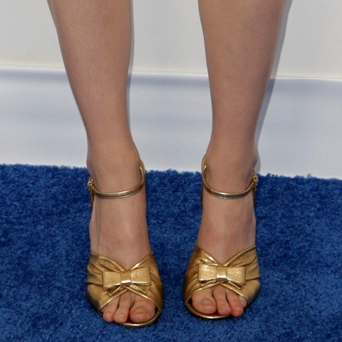 Saoirse Ronan's feet in Prada heels