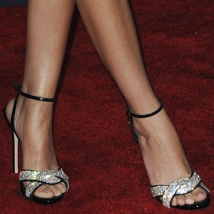 Sarah Hyland's feet in Giuseppe Zanotti heels