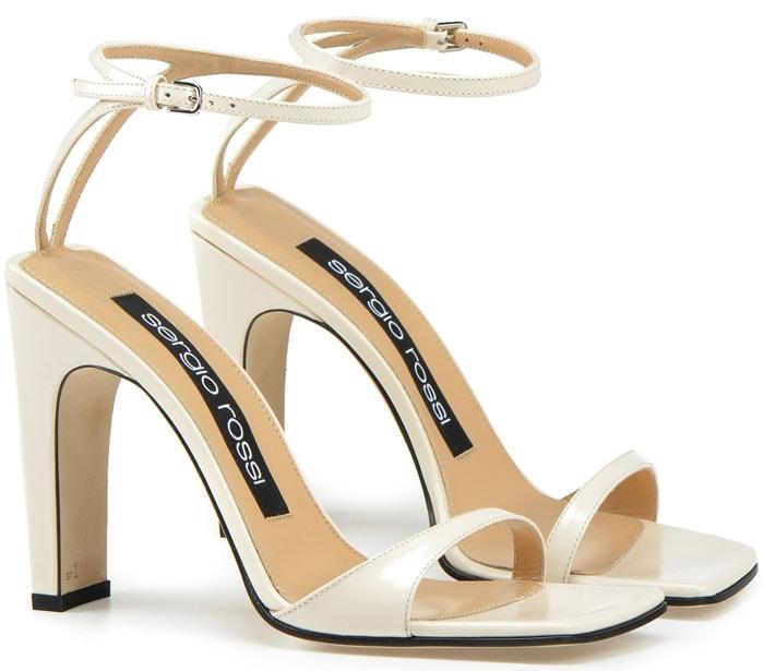 Sergio Rossi 'SR1' sandals in Chalk
