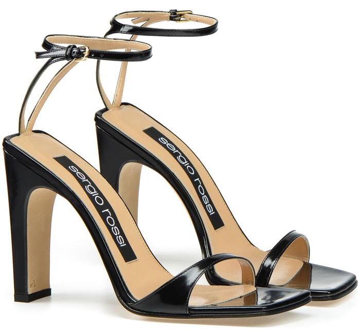 Sergio Rossi 'SR1' sandals in Black Leather