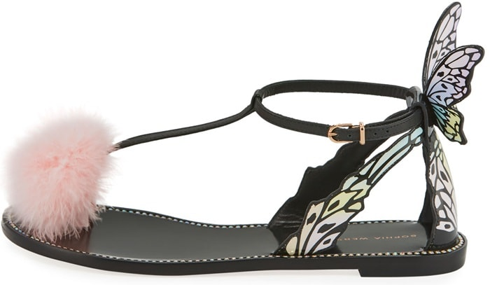 Sophia Webster smooth and patent leather sandal