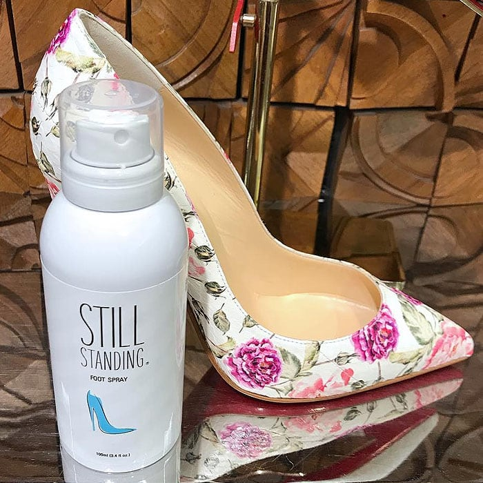 Image shared by @bystillstanding of their red-carpet-favorite Still Standing foot spray.