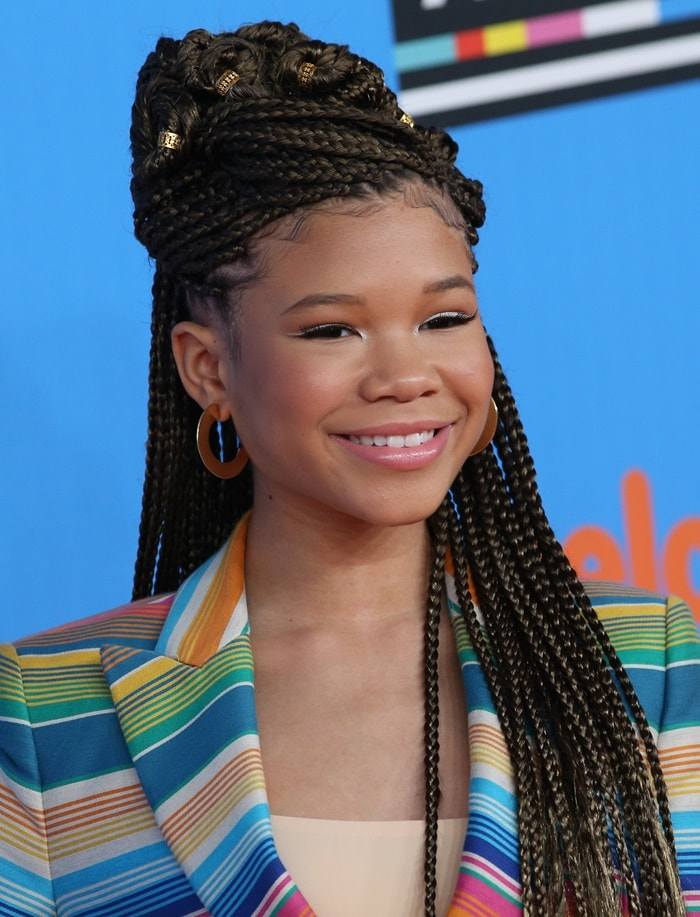 Storm Reid rocked a head full of braids