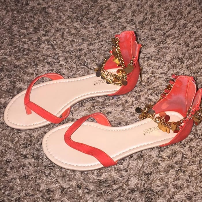 Chic embellished flat 'Tammara' sandal