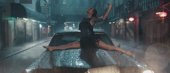 Taylor Swift dancing barefoot in the rain