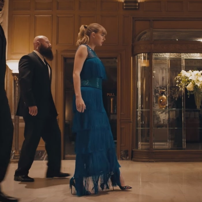 Taylor Swift wearing Christian Louboutin 'Keopump' pumps in her 'Delicate' music video