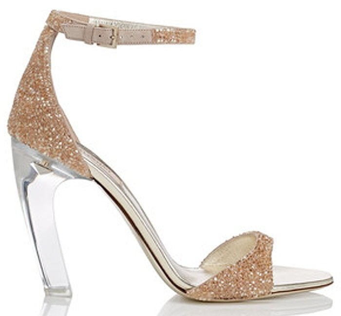 Valentino Acrylic-Glass-Heel Sandals