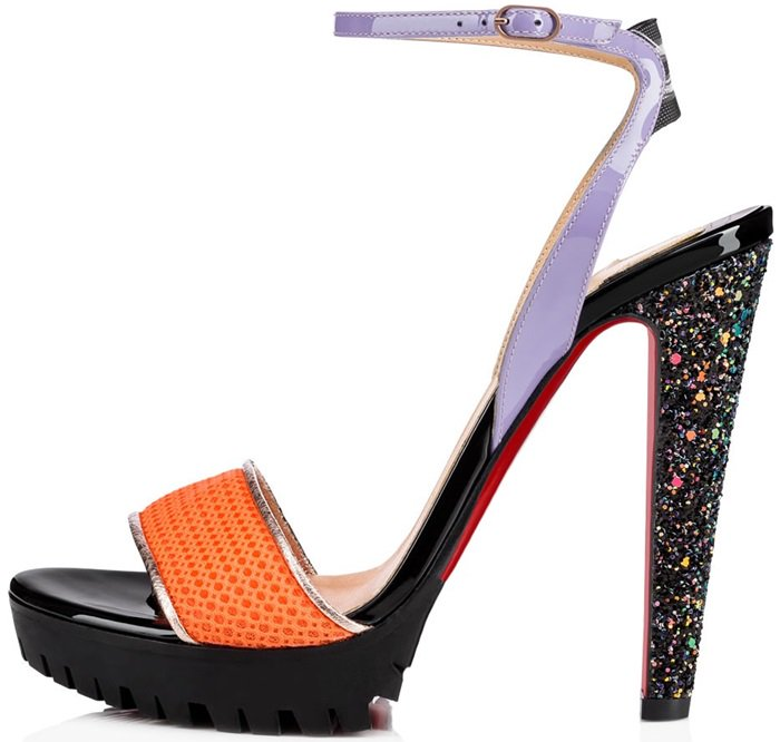 Athluxury 'Volumetric' Sunset Mesh Toe Strap Heels