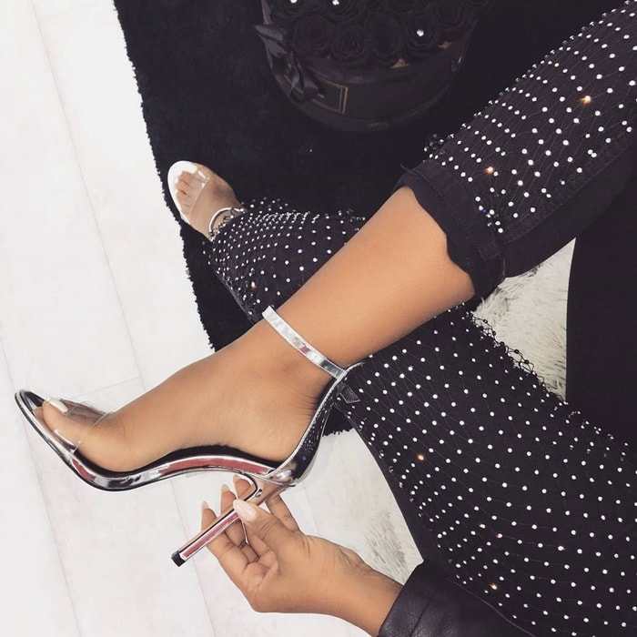 Clear Barely There Heels