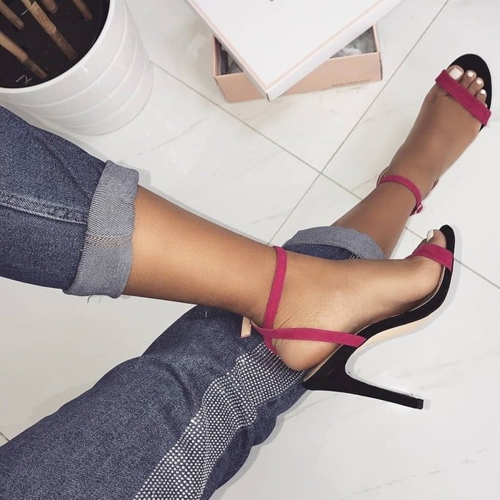 Color Block Barely There 'Arianna' Heels