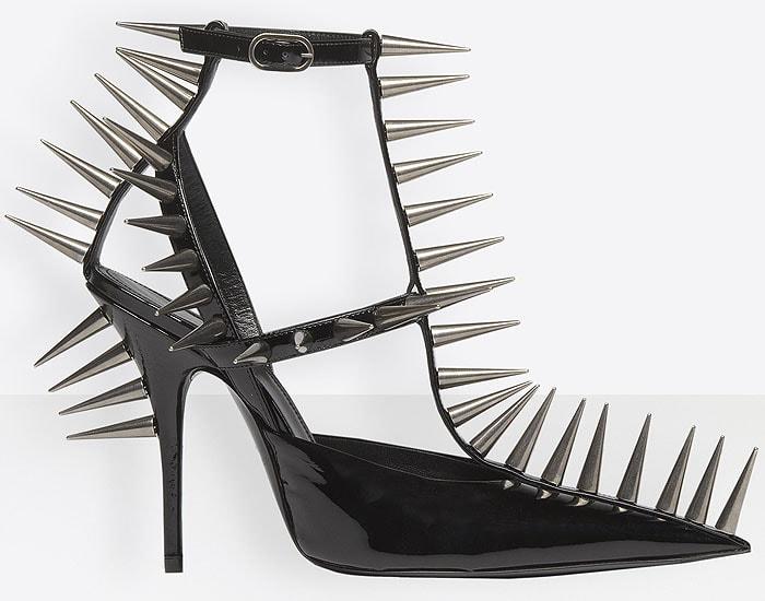 Balenciaga Knife Spiked T-Strap Pumps