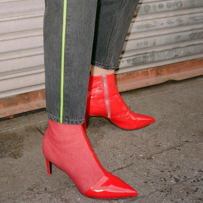 Make a statement in these bold red Rag & Bone booties
