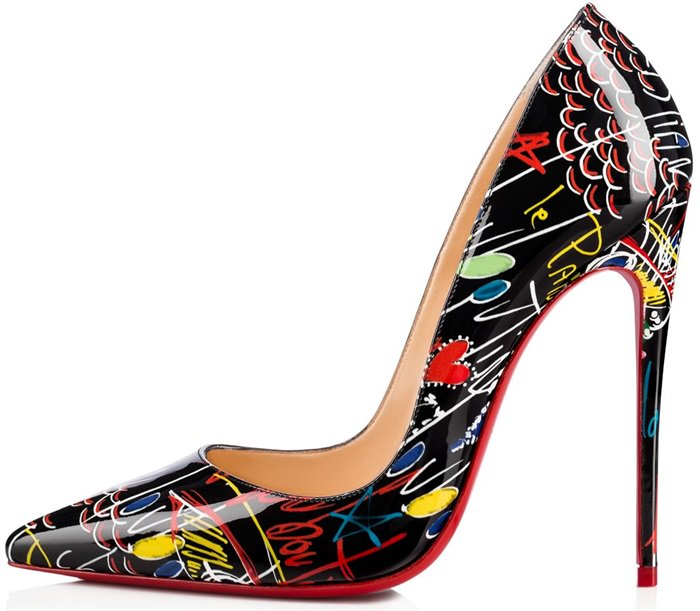 Black 'So Kate' Loubitag Red Sole Pumps