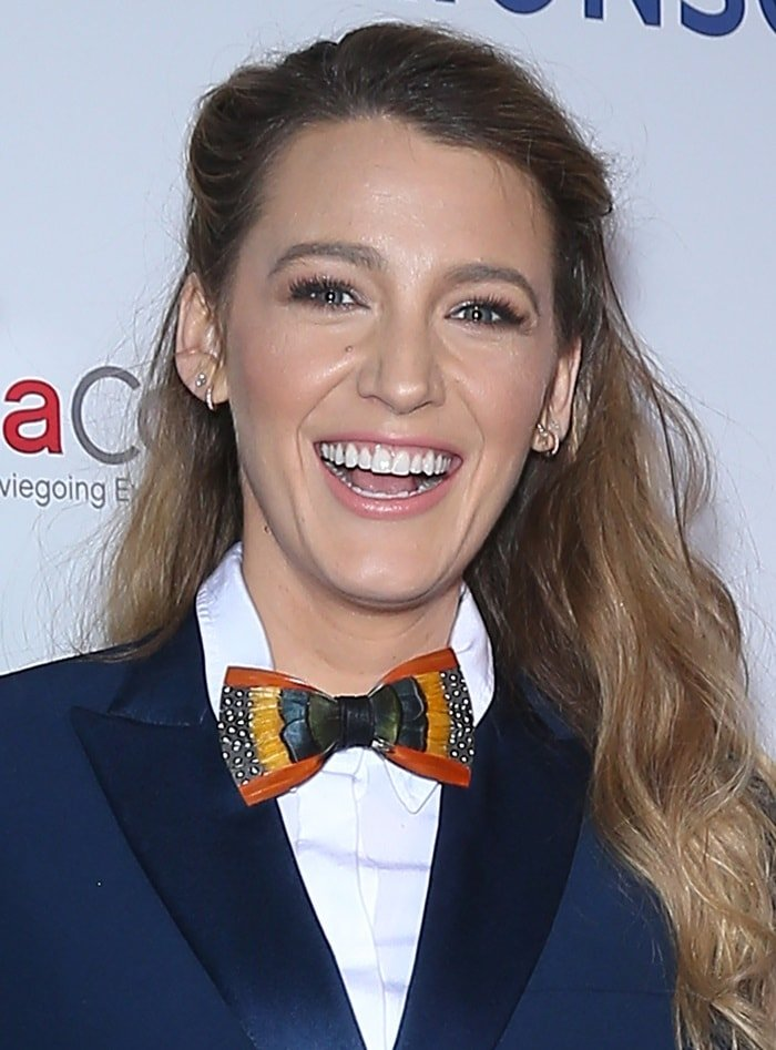 Blake Lively wearing aBrackish Eddy bow tie at the 2018 CinemaCon