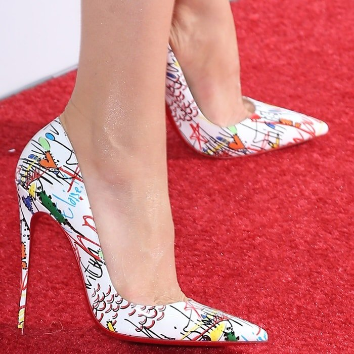 new product a4c47 20eae Loubitag Scribble Printed 'So Kate' Pumps by Christian Louboutin