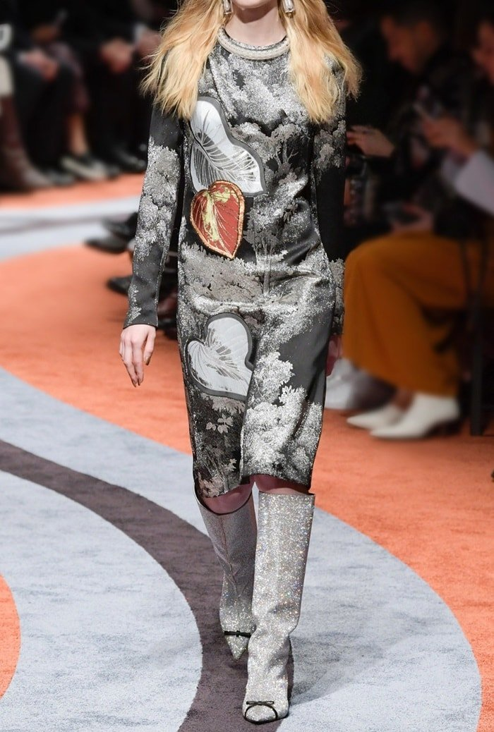 Marco de Vincenzo's Swarovski crystal-embellished boots were the shoes to be seen in at the recent round of fashion weeks