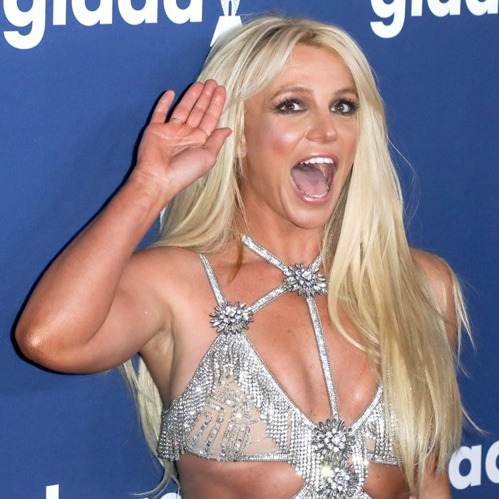 Britney Spears at the 2018 GLAAD Media Awards at the Beverly Hilton Hotel in Beverly Hills, California, on April 12, 2018