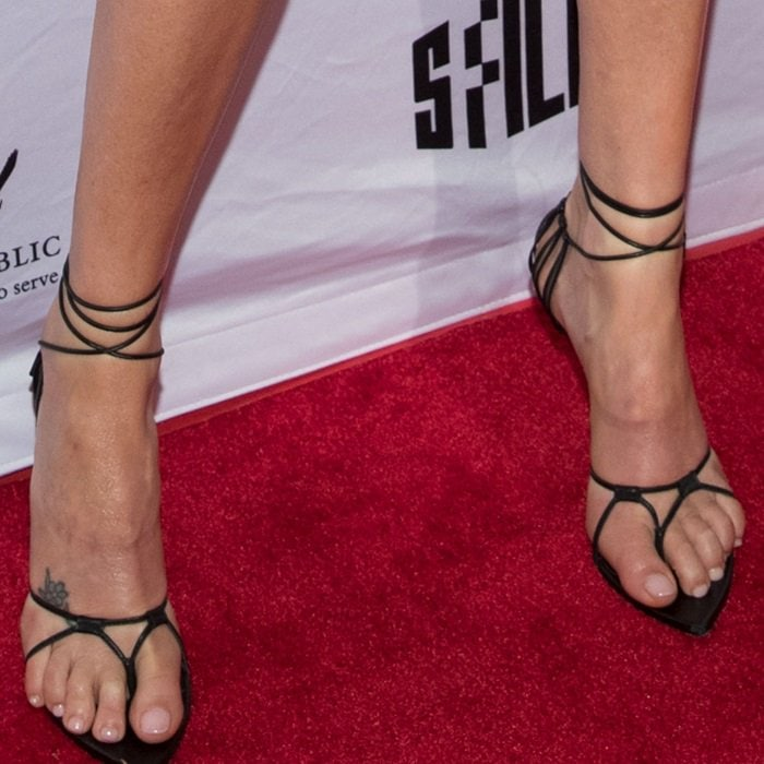 Charlize Theron tortured her feet in strappy sandals