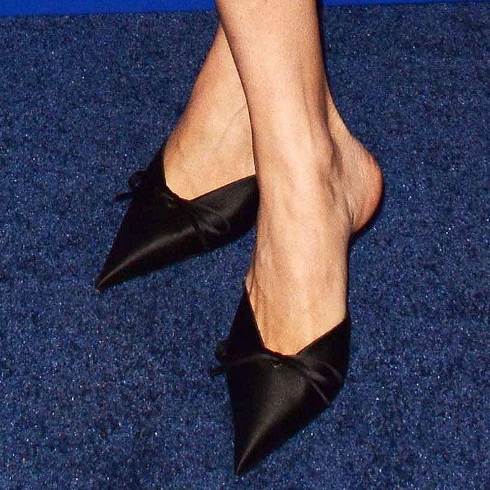 Balenciaga' Knife' pointy-toe mules on Chloe Sevigny.