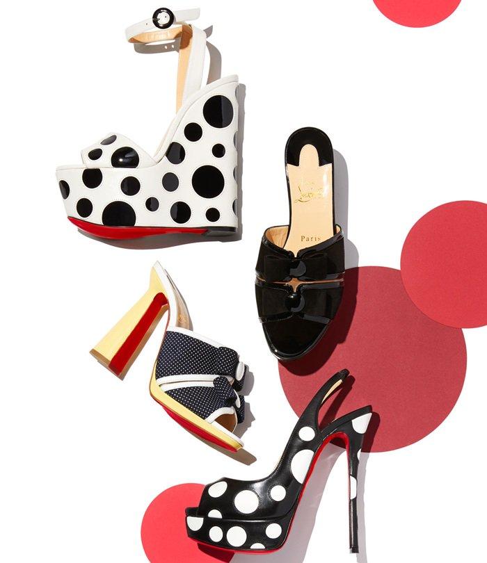 Christian Louboutin's polka dot shoes for women